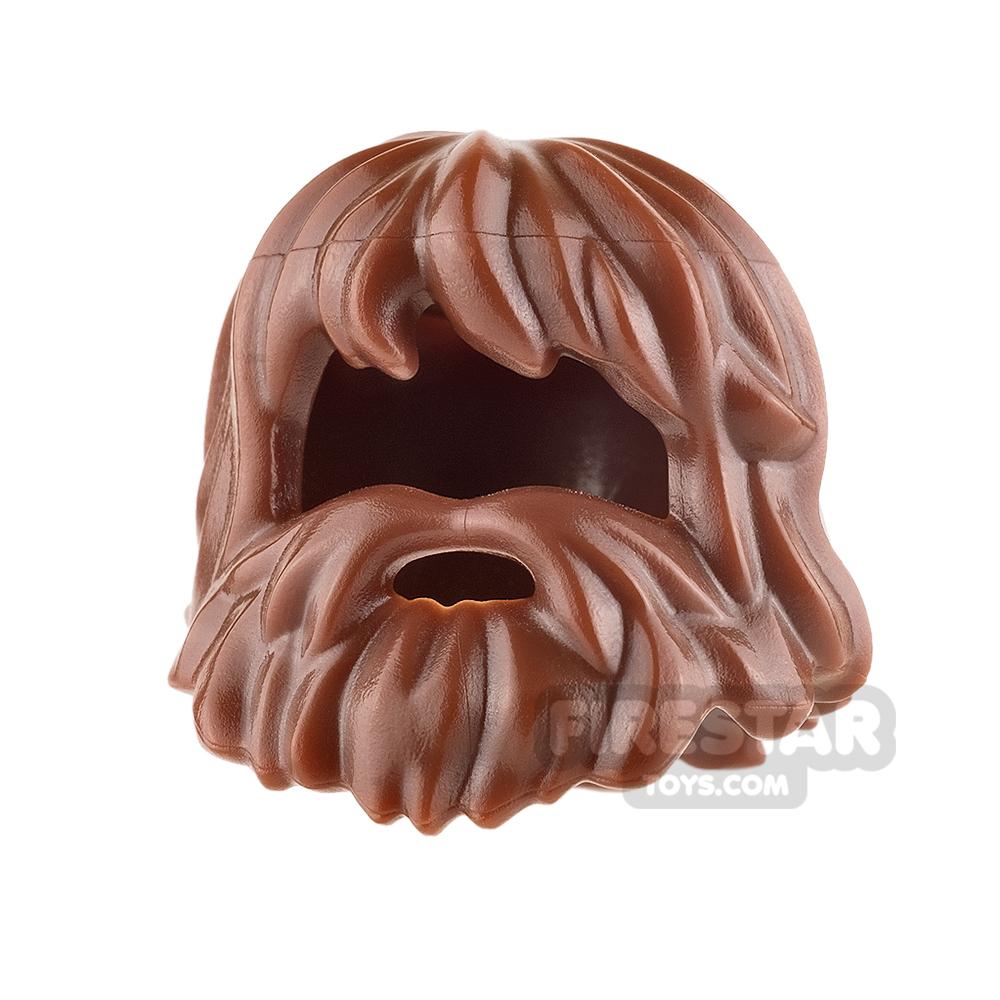 LEGO Hair - Caveman Hair - Reddish Brown