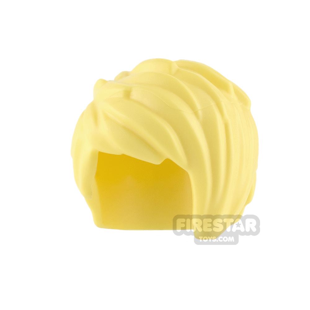 LEGO Hair - Short Swept Left - Bright Light Yellow