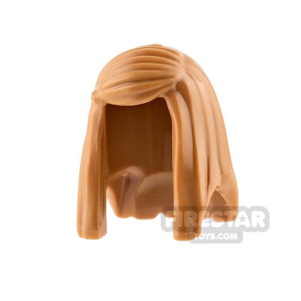 LEGO Hair - Long Straight Hair - Medium Dark Flesh