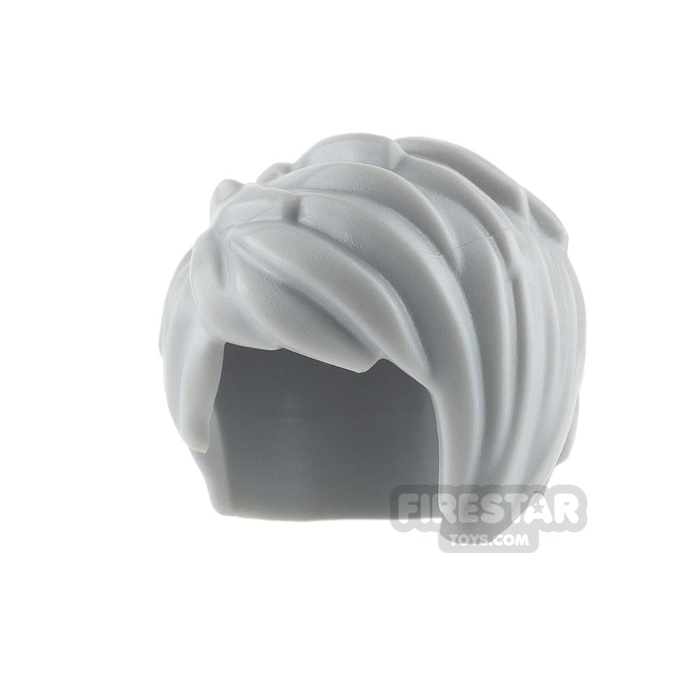 LEGO Hair - Short Swept Left - Light Blueish Gray