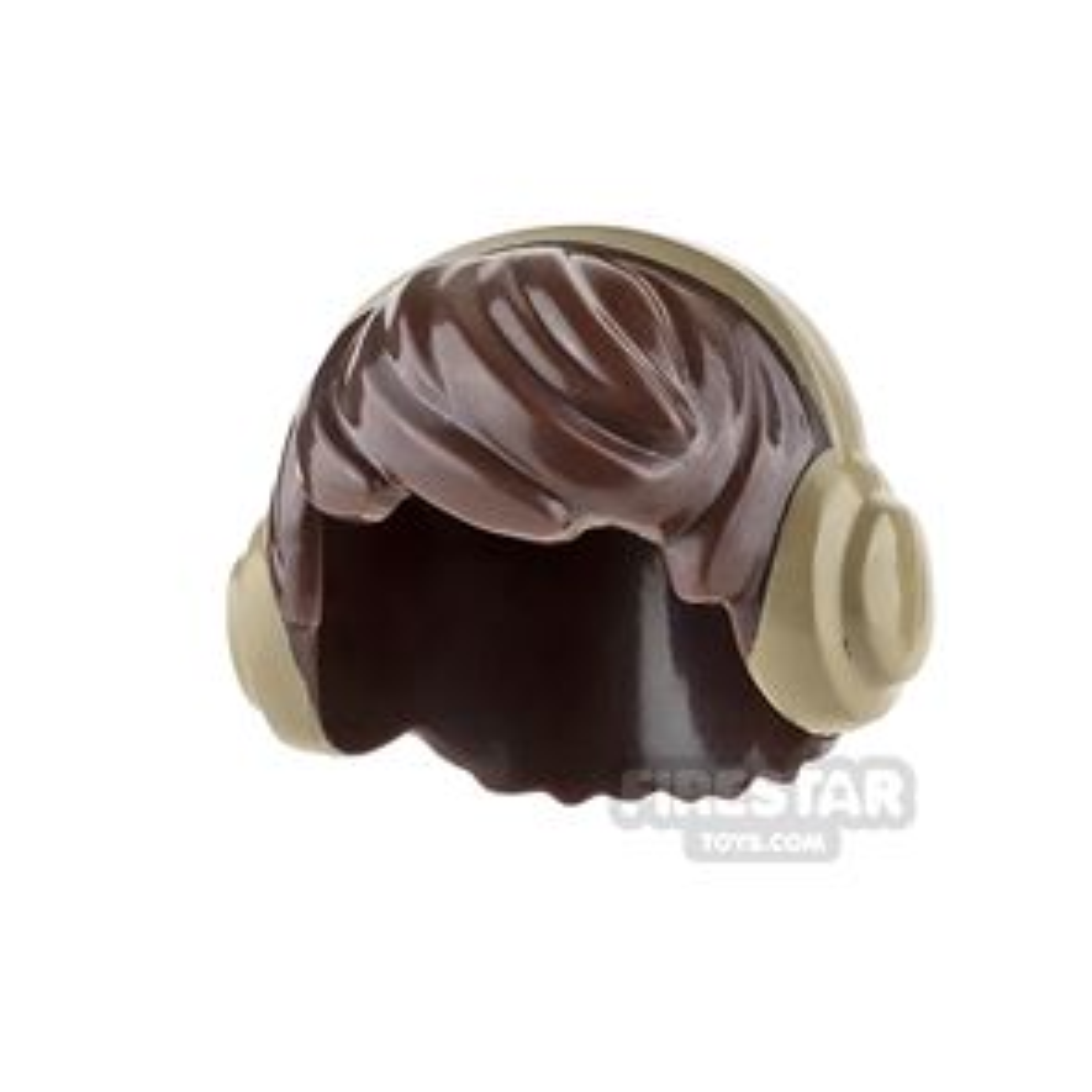 LEGO Hair - Choppy with Headphones - Dark Brown