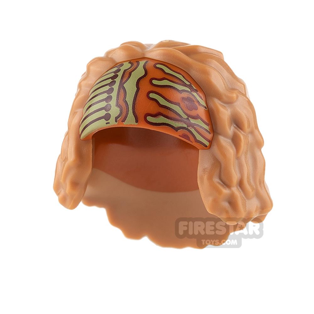 LEGO Hair - Thick with Headscarf - Medium Dark Flesh