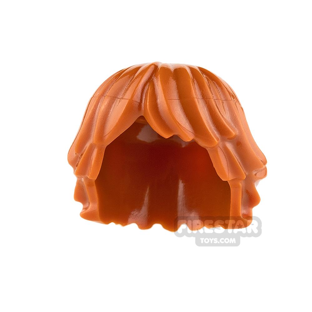 LEGO Hair - Layered Bob - Dark Orange