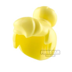 LEGO Hair Top Knot Bun and Fringe - Bright Light Yellow