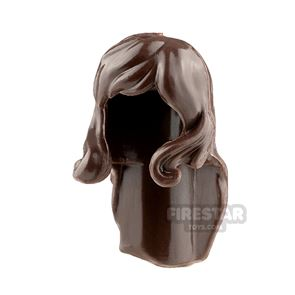 Minifigure Hair Long Straight with Bangs