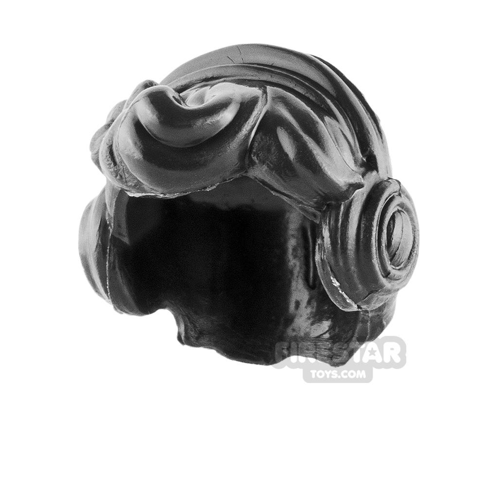 Minifigure Hair Short Wavy with Headphones
