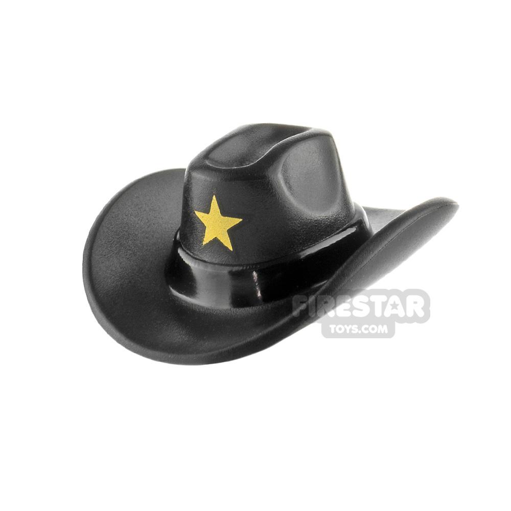 LEGO Cowboy Hat Gold Sheriff Star