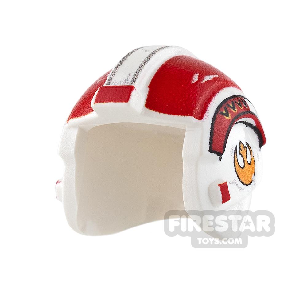 Custom Design Headgear SW Rebel Pilot Helmet Zal Dinnes