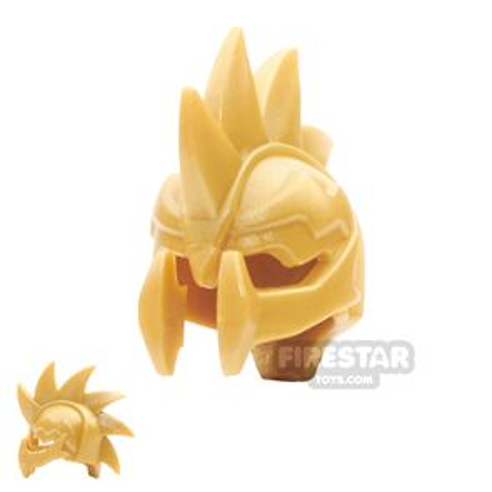 BrickWarriors - Demon Helmet - Pearl Gold