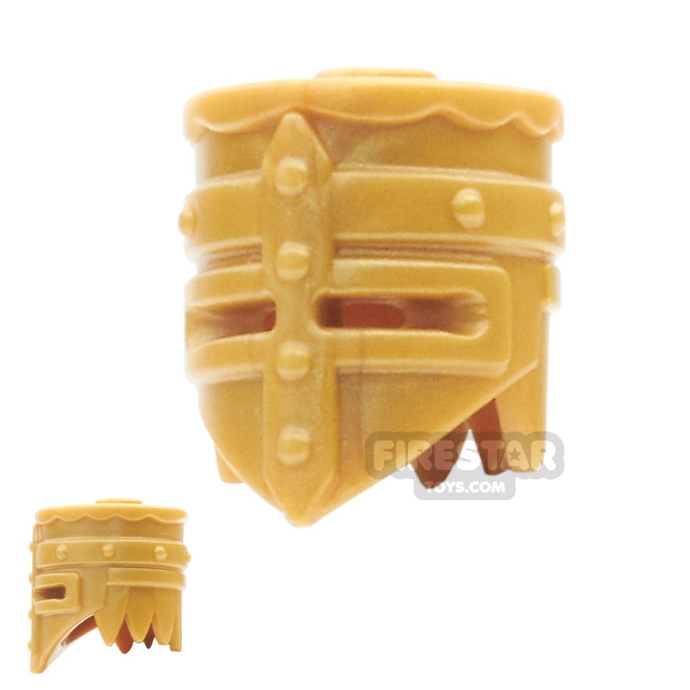 BrickWarriors - Crusader Helm - Pearl Gold