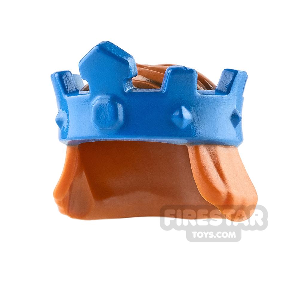LEGO - Blue King's Crown with Hair - Dark Orange