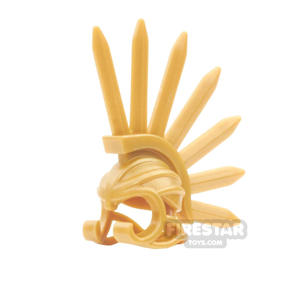 BrickWarriors - Bladed Helm - Pearl Gold