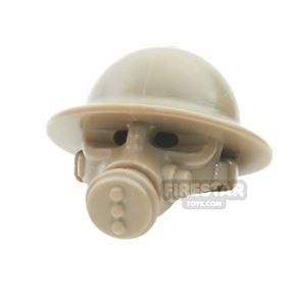 BrickWarriors - British Gas Mask - Dark Tan