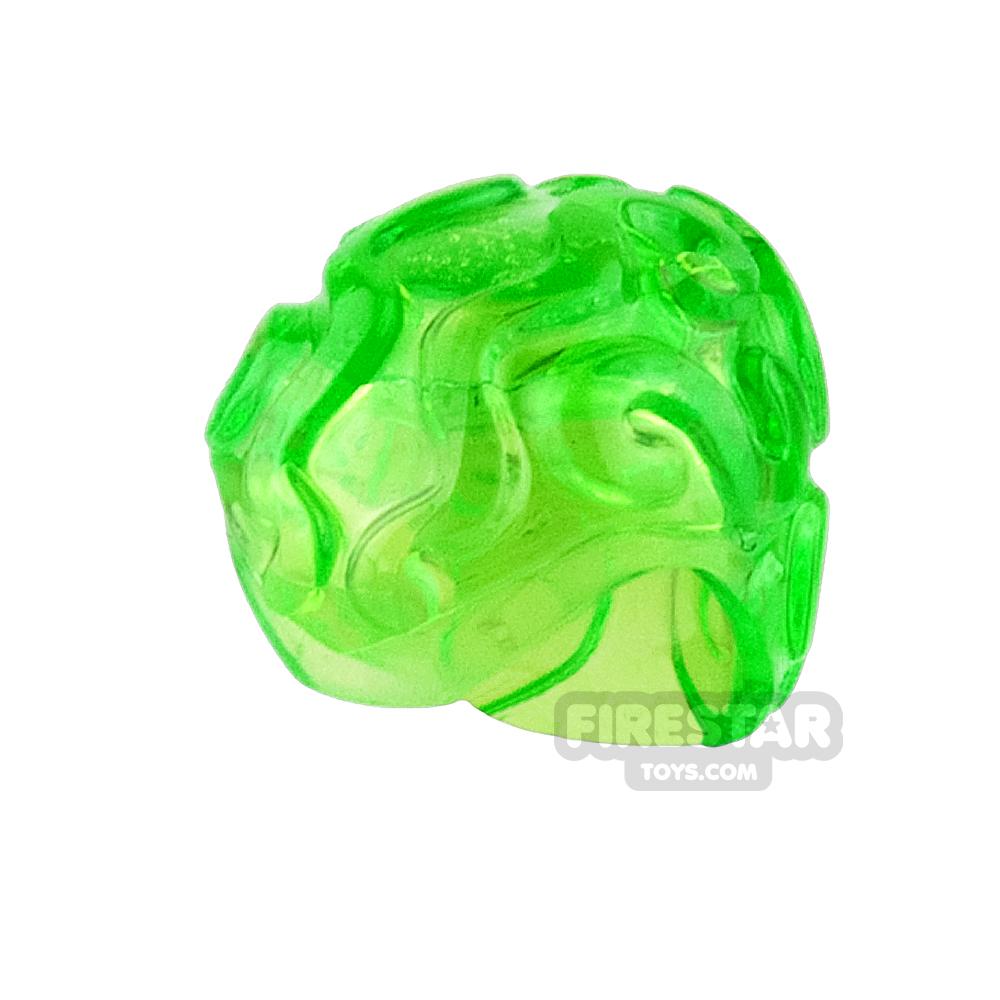 LEGO - Brain Piece - Trans Bright Green