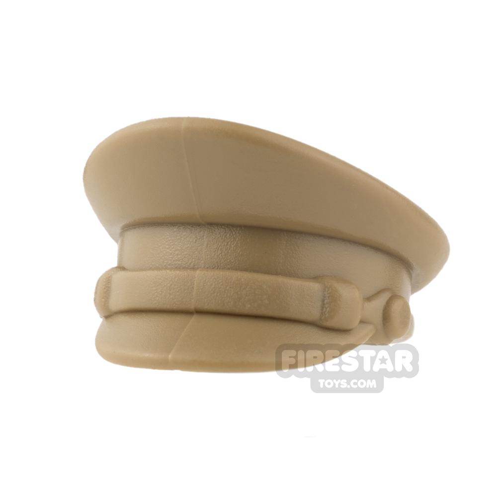 BrickWarriors - Officer Hat - Dark Tan