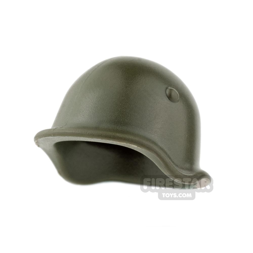 BrickWarriors - Soviet Helmet - Army Green