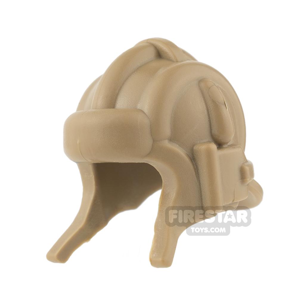 BrickWarriors - Soviet Tanker Helmet - Dark Tan