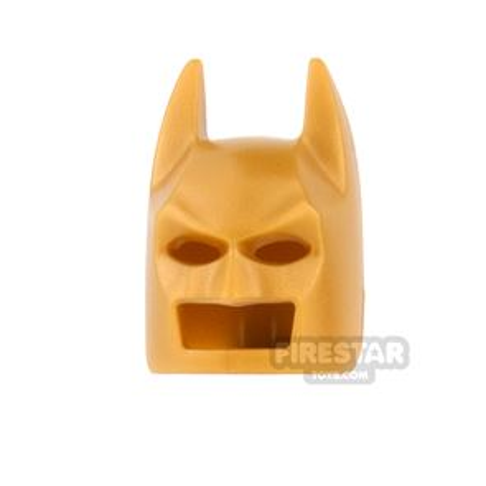 LEGO - Batman Mask - Angular Ears - Pearl Gold