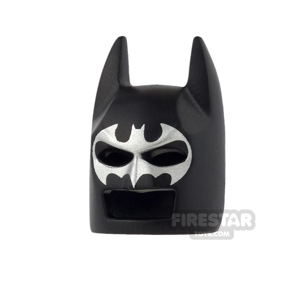 LEGO - Batman Mask - Angular Ears - Black with Silver Bat