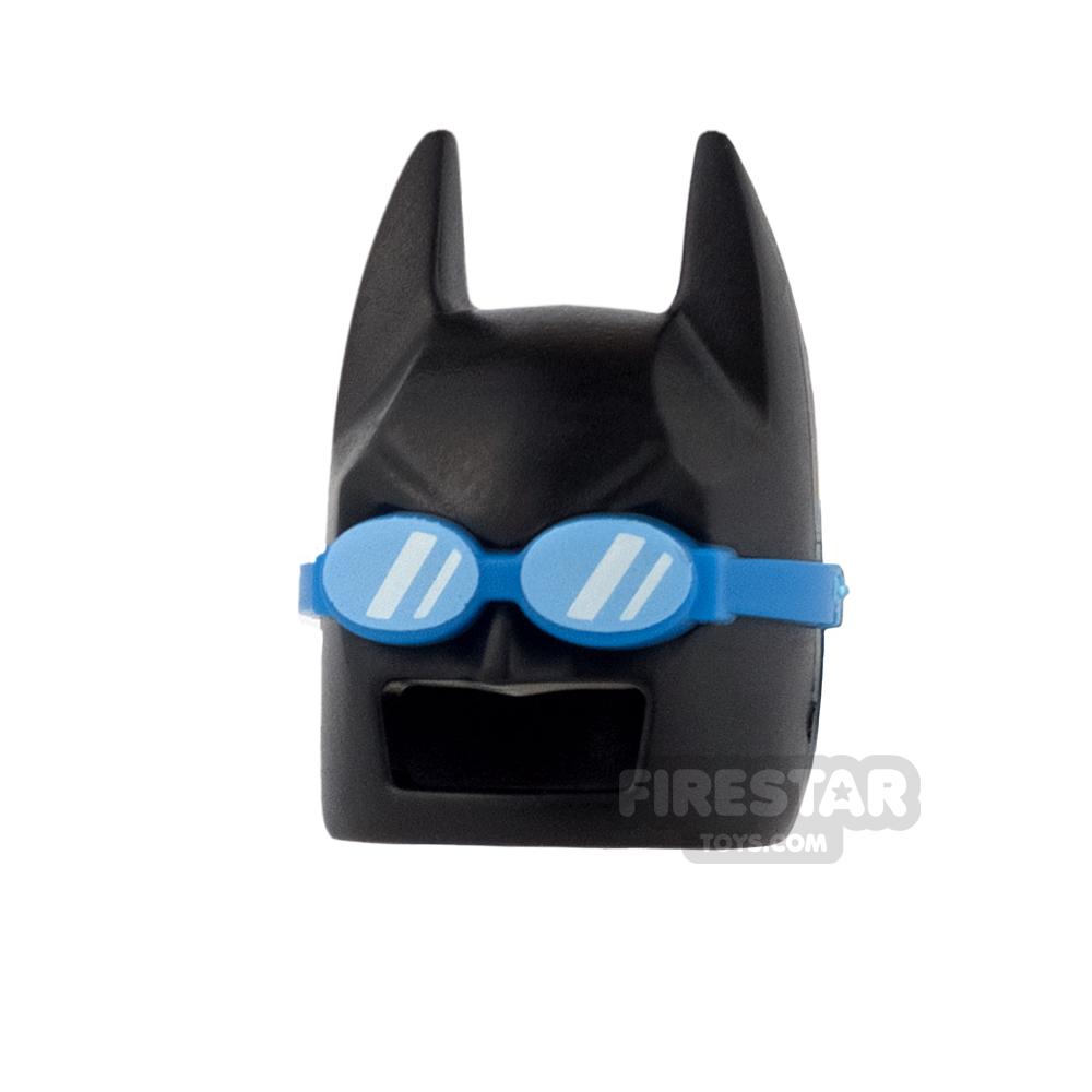 LEGO - Batman Mask - Angular Ears - Black with Swimming Goggles