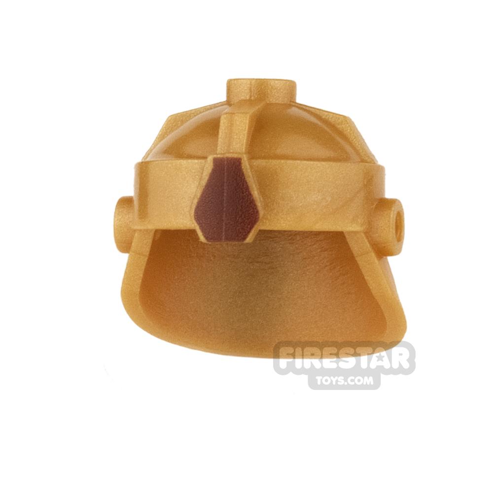 BrickForge - Dwarven Helmet - Gold with Reddish Brown Jewel