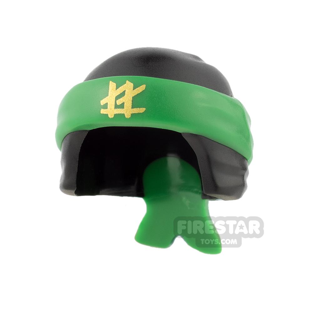 LEGO - Ninja Bandana - Black with Knot - Green