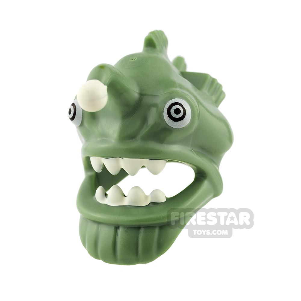 LEGO - Angler Fish Head Cover - Sand Green