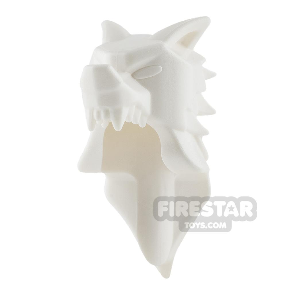 BrickWarriors - Wolf Pelt Helm - White