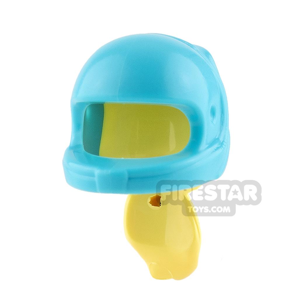 LEGO - Medium Azure Racing Helmet with Ponytail
