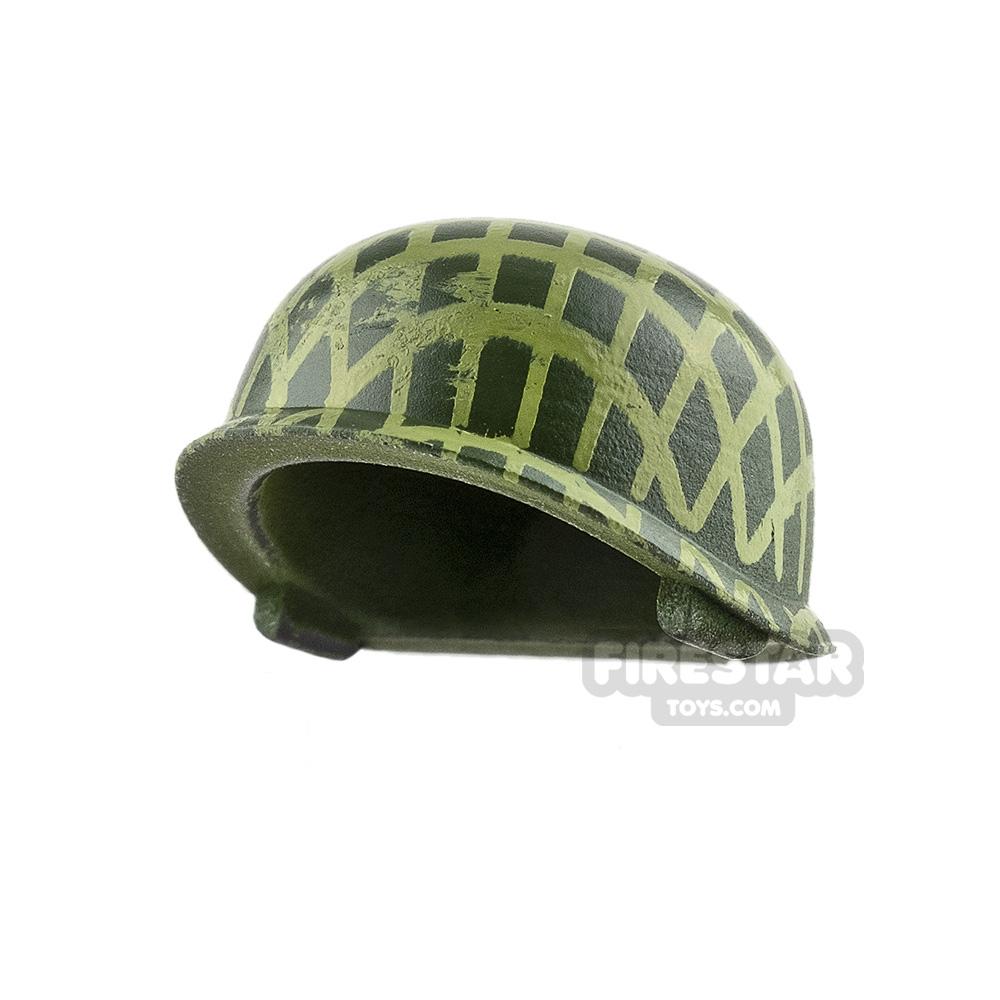 SI-DAN - US M-1 Army Helmet - Tank Green with Grid