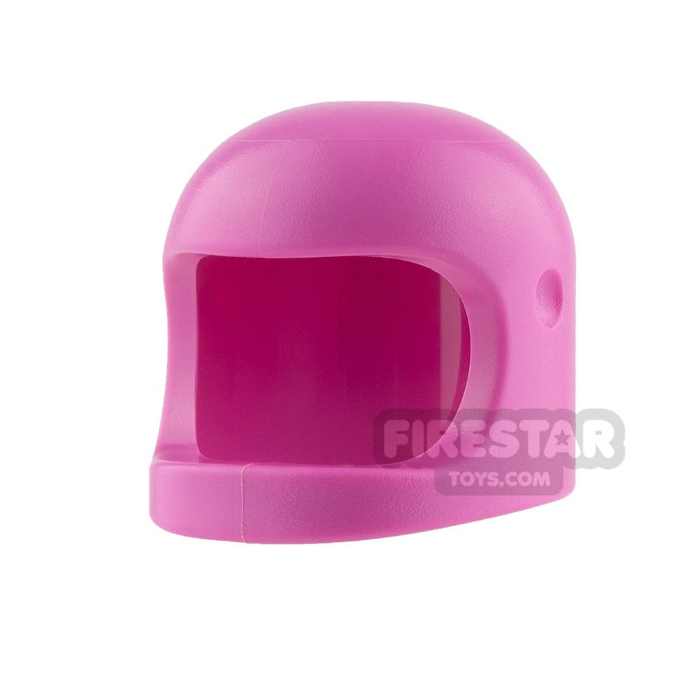 LEGO - Biker Helmet with Thick Chin Strap - Dark Pink