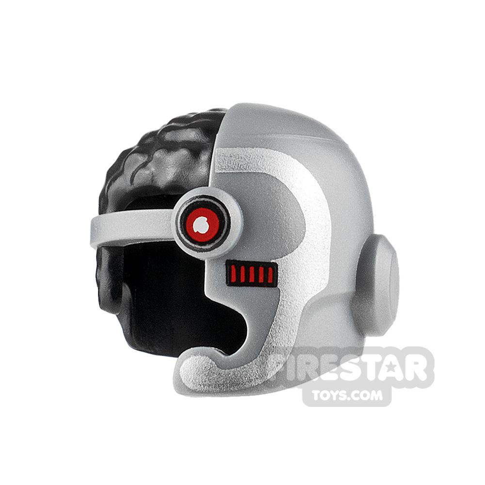 LEGO Cyborg Helmet with Hair
