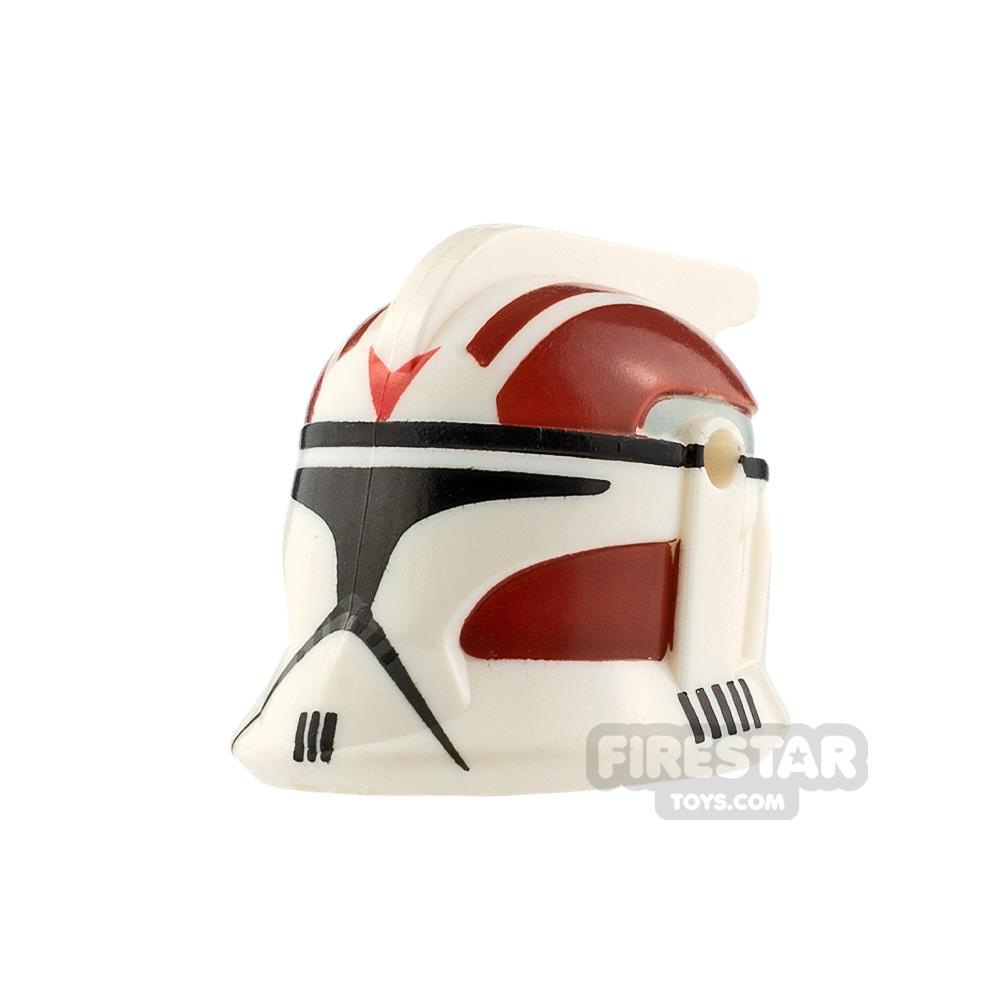 Clone Army Customs P1 Helmet Rocket Dark Red
