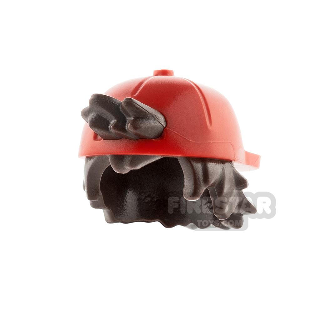 LEGO Cap With Short Dark Brown Hair