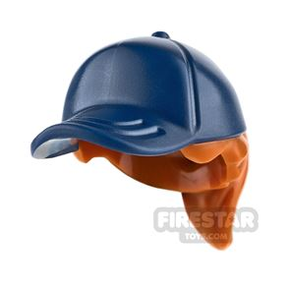 LEGO Dark Blue Cap with Ponytail