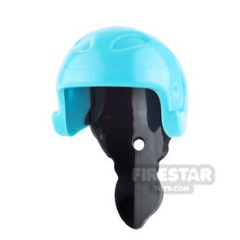 LEGO - Helmet with Ponytail - Medium Azure and Black
