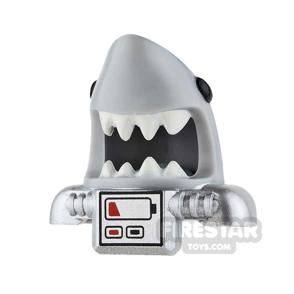 LEGO - Shark Scuba Head Cover with Battery Pack - Light Blueish Gray