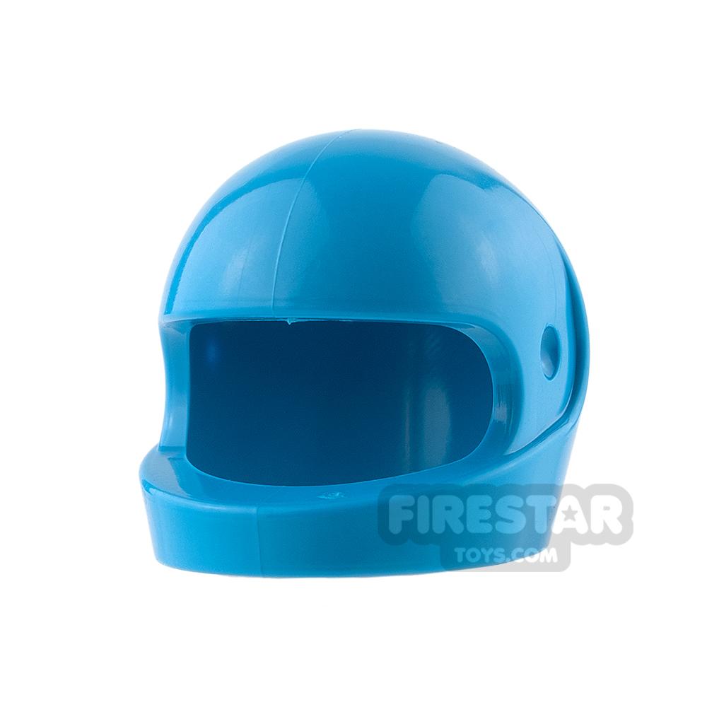 LEGO - Biker Helmet - Dark Azure