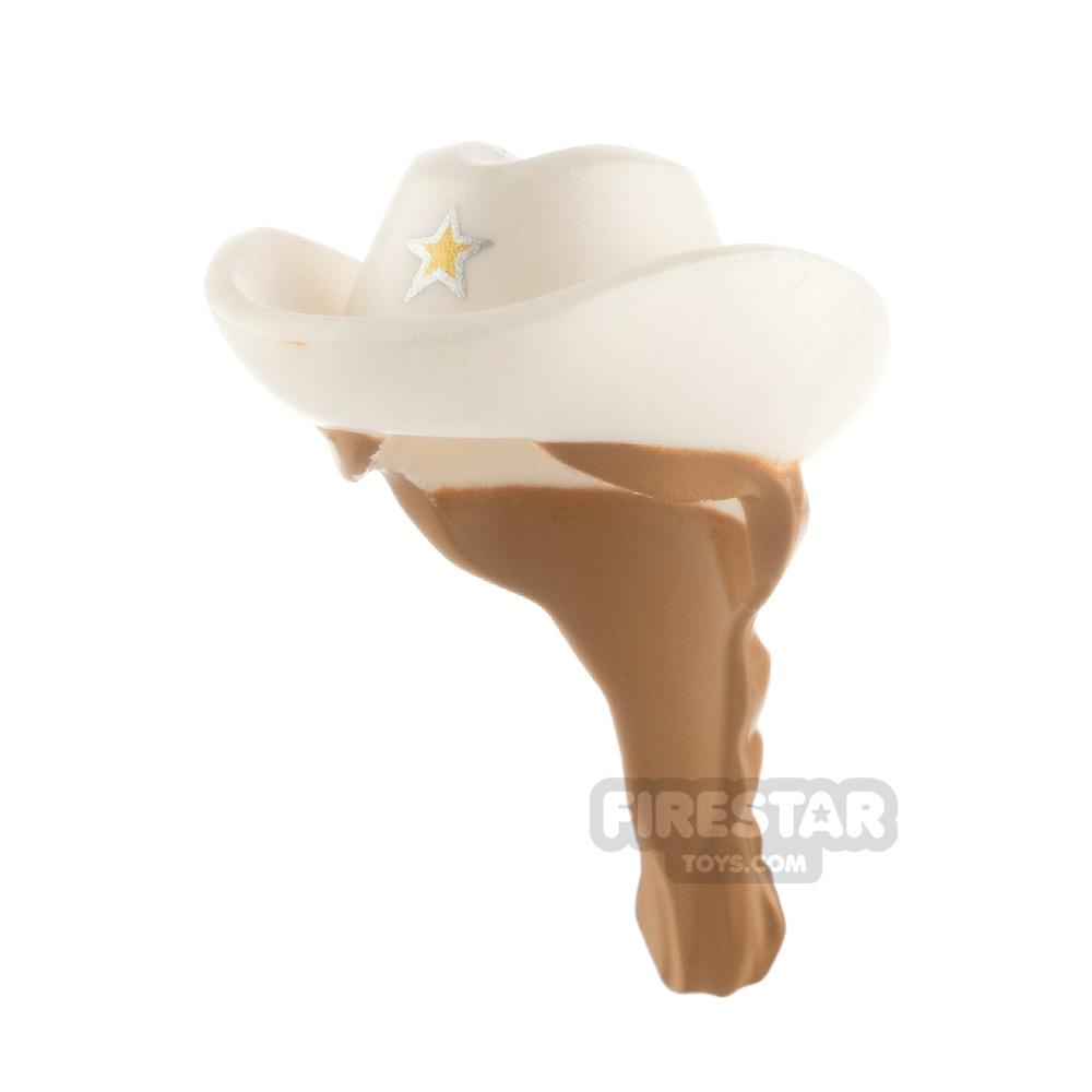 LEGO - Cowboy Hat with Braided Ponytail