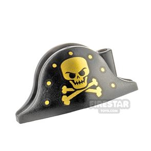 LEGO - Pirate Hat - Gold Skull and Crossbones