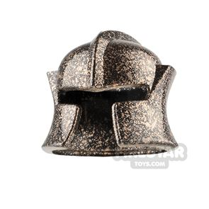 LEGO Castle Helmet Cheek Protection - Speckled Copper