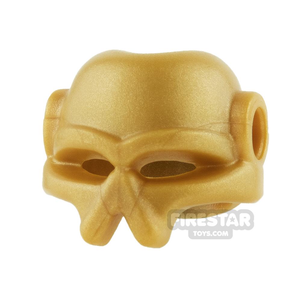 BrickWarriors - Invader Helmet - Pearl Gold