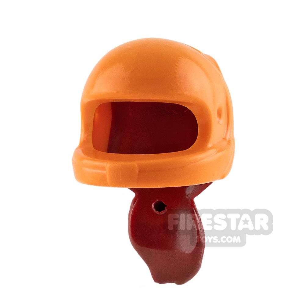 LEGO - Orange Racing Helmet with Ponytail