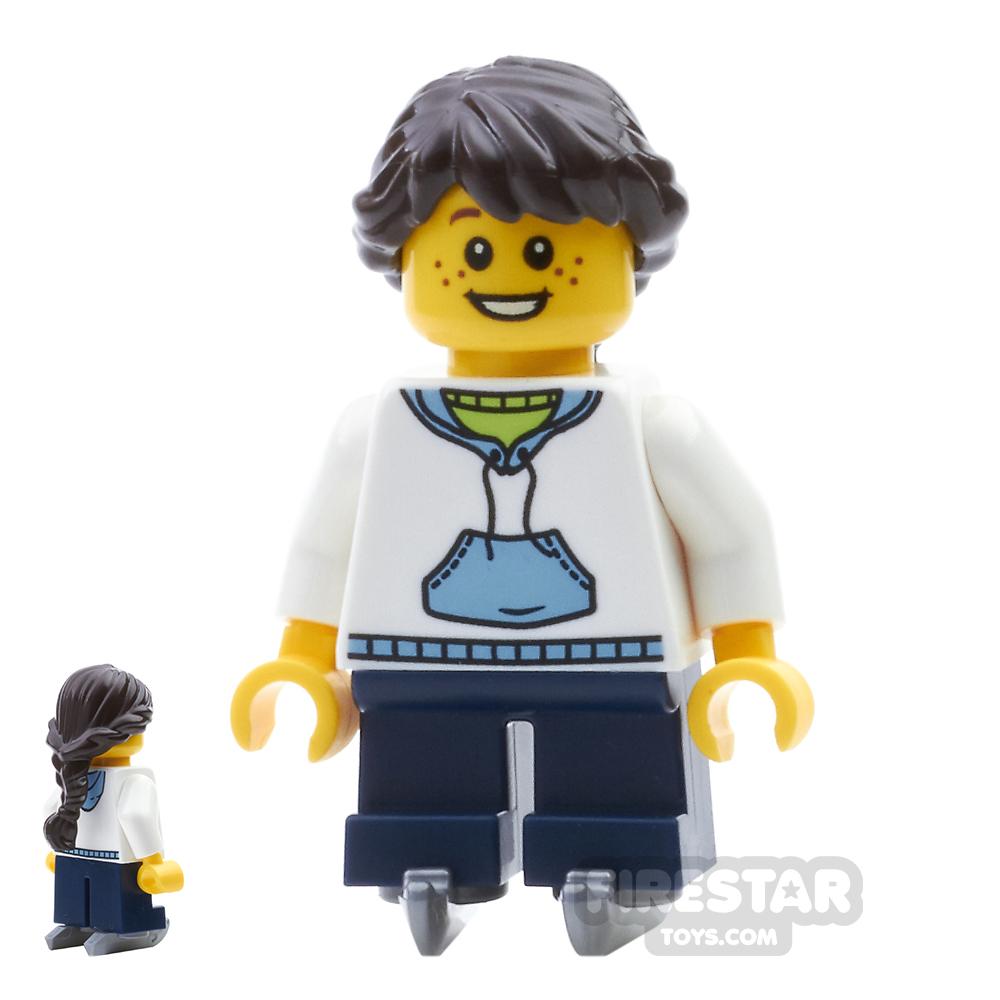 LEGO City Mini Figure - White Hoodie Ice Skates