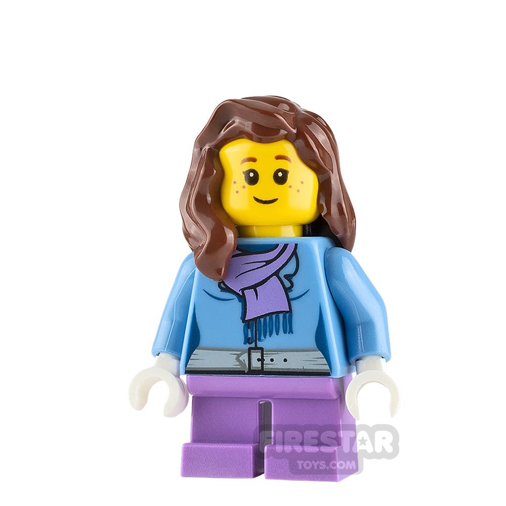 LEGO City Minifigure Light Purple Scarf