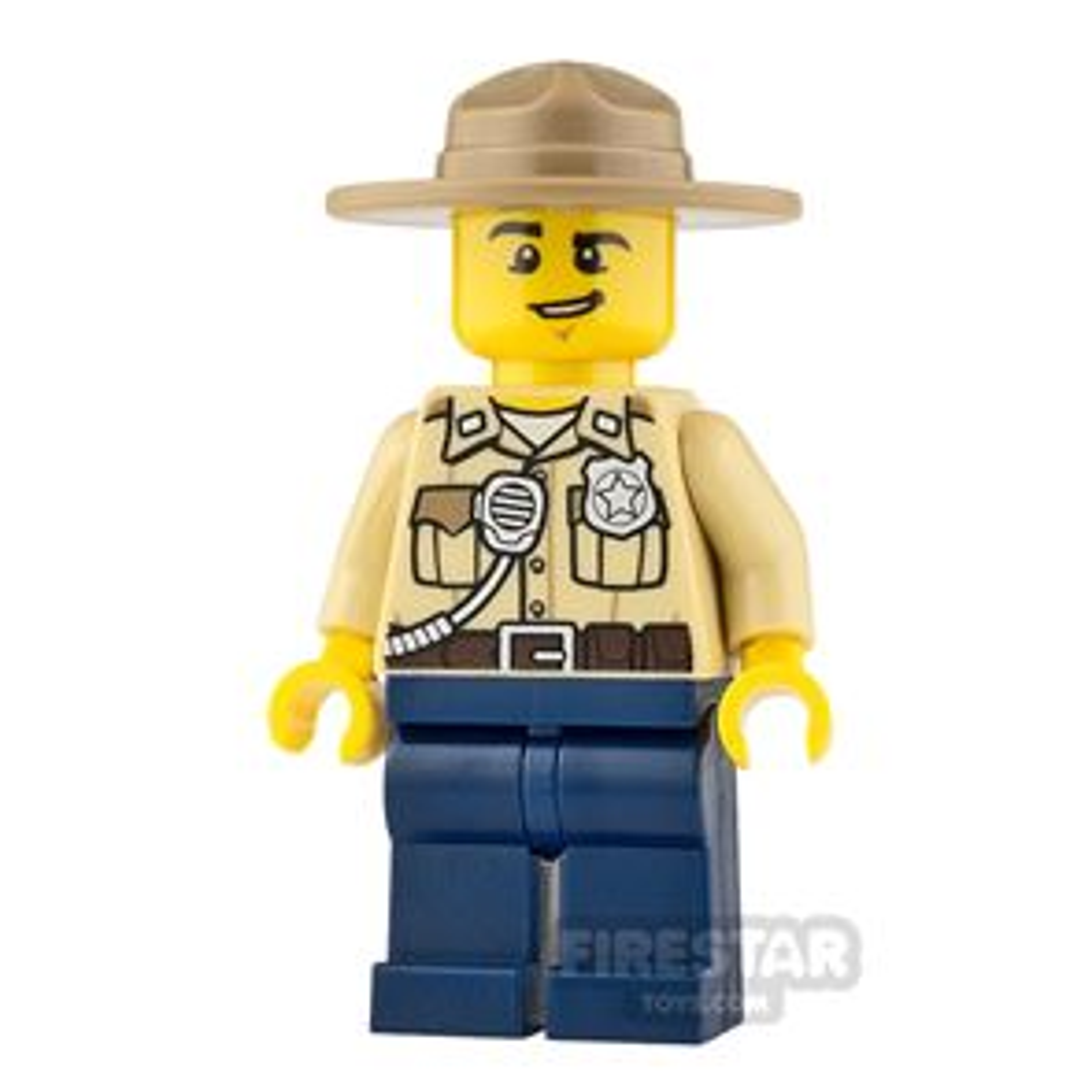 LEGO City Minifigure Swamp Police Lopsided Grin