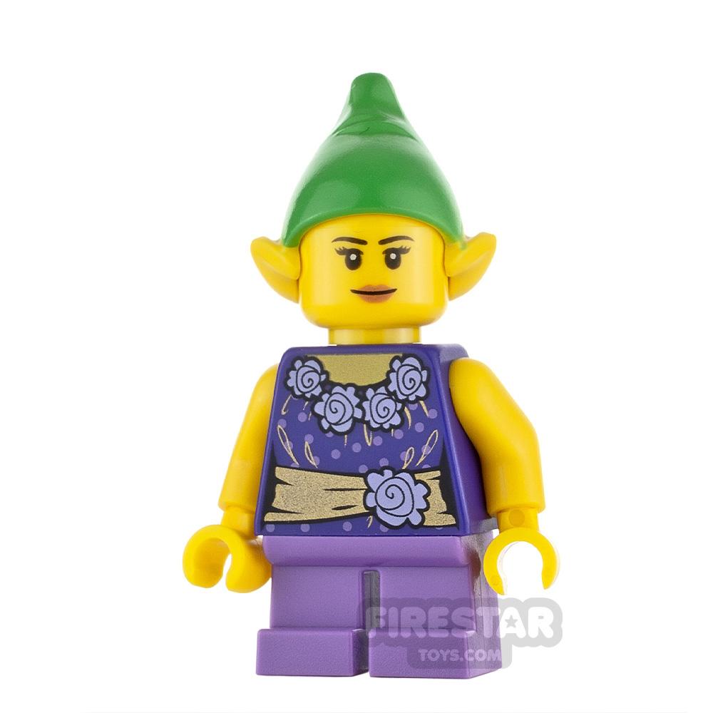 LEGO City Minifigure Elf Dark Purple Top