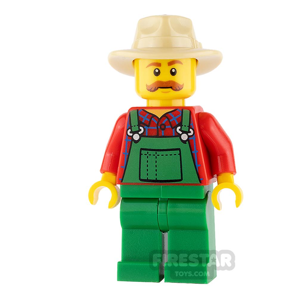 LEGO City Mini Figure - Farmer with Bushy Moustache