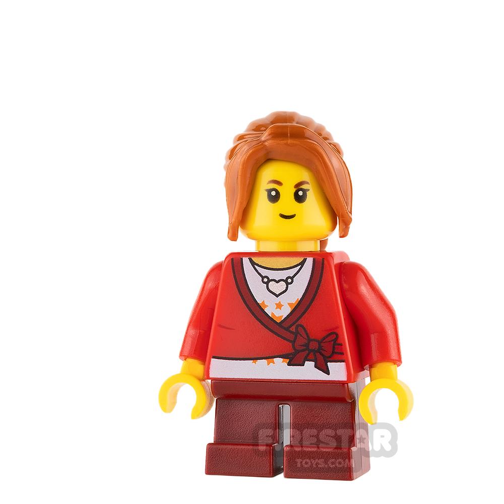 LEGO City Mini Figure - Cropped Sweater and Orange Ponytail