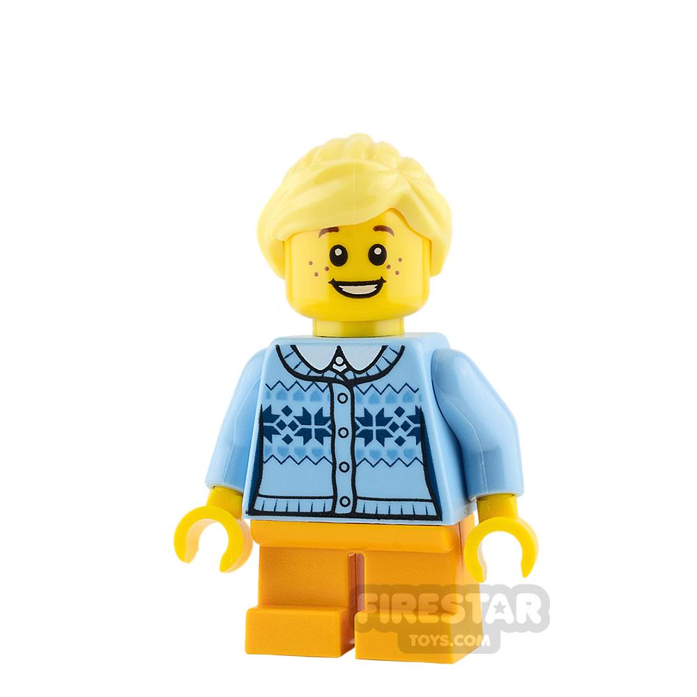 LEGO City Mini Figure - Girl - Fair Isle Sweater